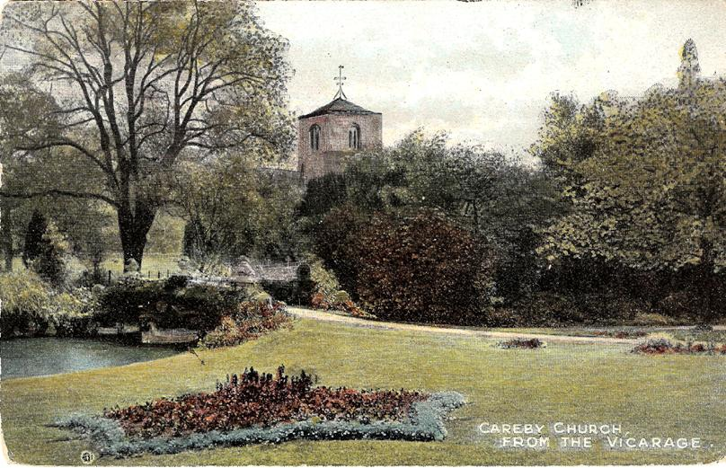 Careby Church from the Rectory Garden