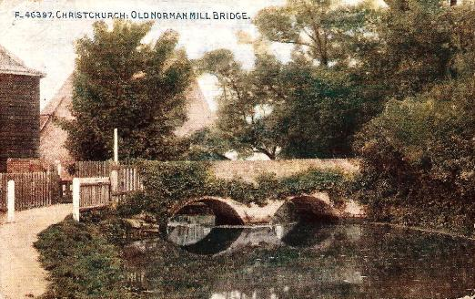 Old Norman Mill Bridge, Christchurch
