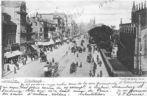 Princes Street, Edinburgh, 1903