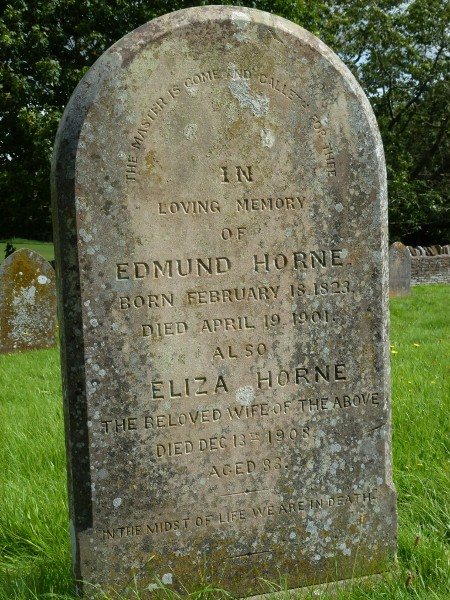 Edmund and Eliza Horne grave