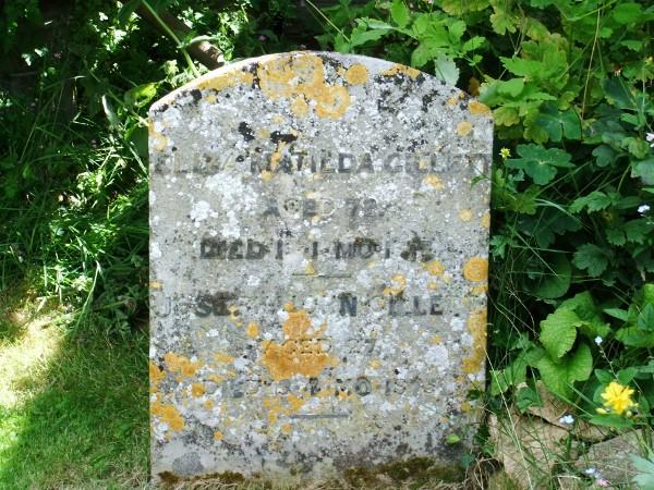 Eliza Matilda and Joseph John Gillett's gravestone