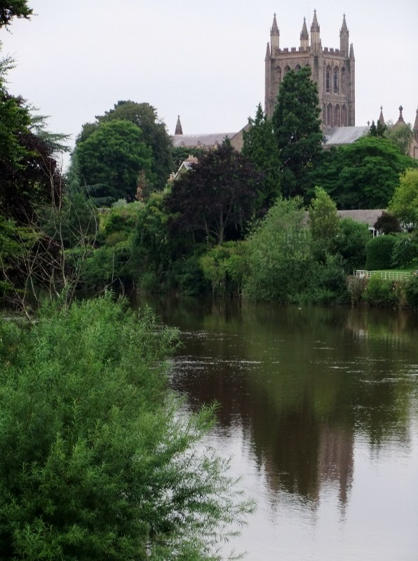 Cathedral from the riverside, Hereford