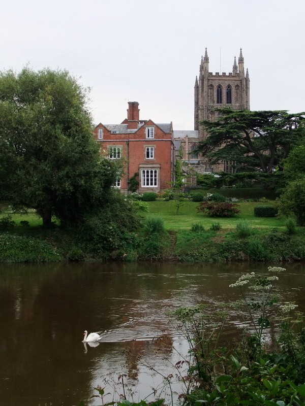 Hereford - Cathedral from Riverside