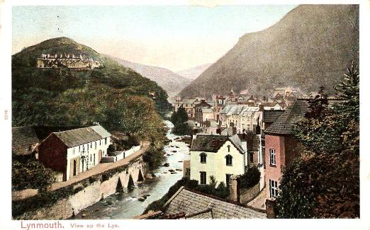 Lynmouth, view up the Lyn