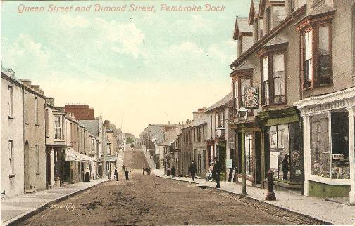 Pembroke Dock, Queen and Dimond  Streets