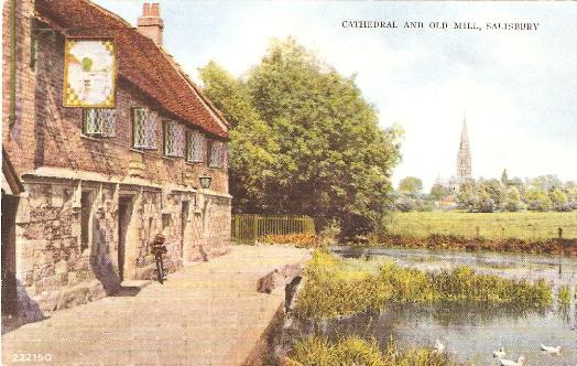 Salisbury Cathedral and Old Mill