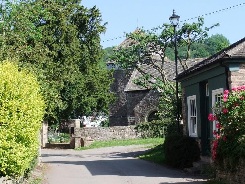 Skenfrith, Church from Village