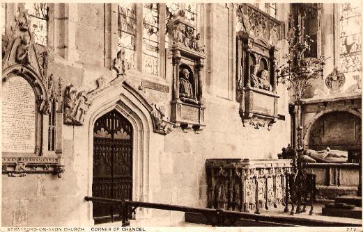 Stratford-on-Avon Church, Corner of Chancel