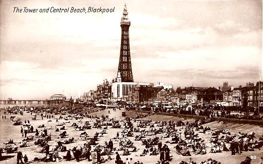 Tower and Central Beach, Blackpool