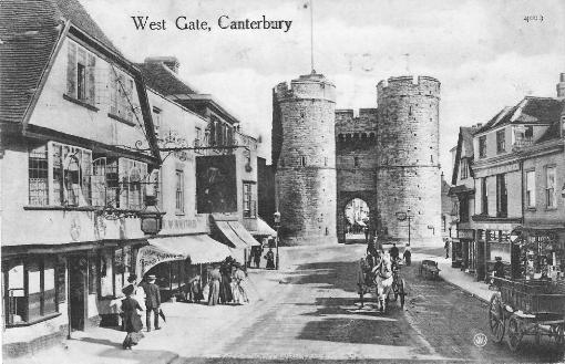 Canterbury West Gate - 1909