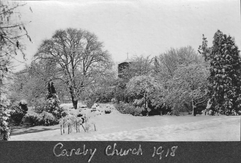 Careby Church in January 1918
