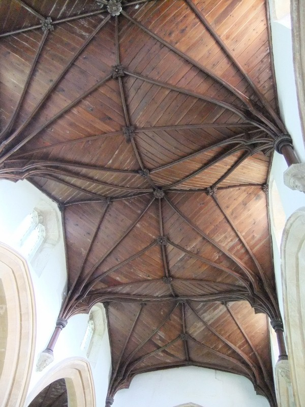 Careby Church ceiling