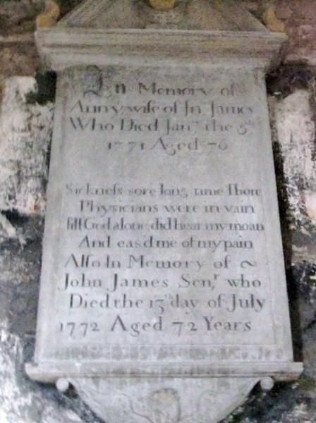 Grosmont Church James Wall Plaque
