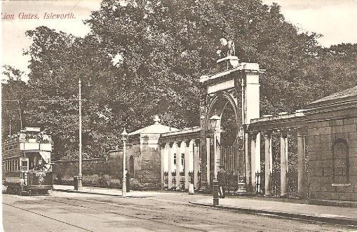 Tram at Lion Gate, Syon House, Isleworth