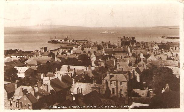 Kirkwall Harbour from Cathedral Tower