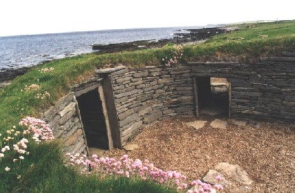 The Knap of Howar - main entrance, inside aspect