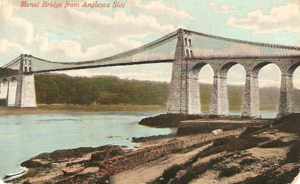 Menai Bridge from the Anglesey side