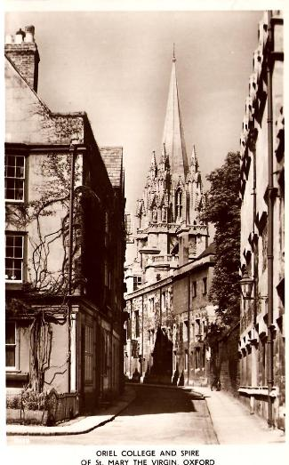 Oriel College and Spire of St Mary the Virgin, Oxford