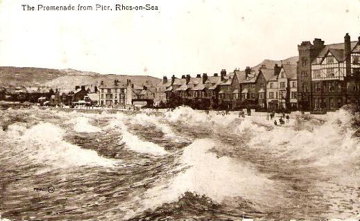 Promenade from Pier, Rhos-on-Sea