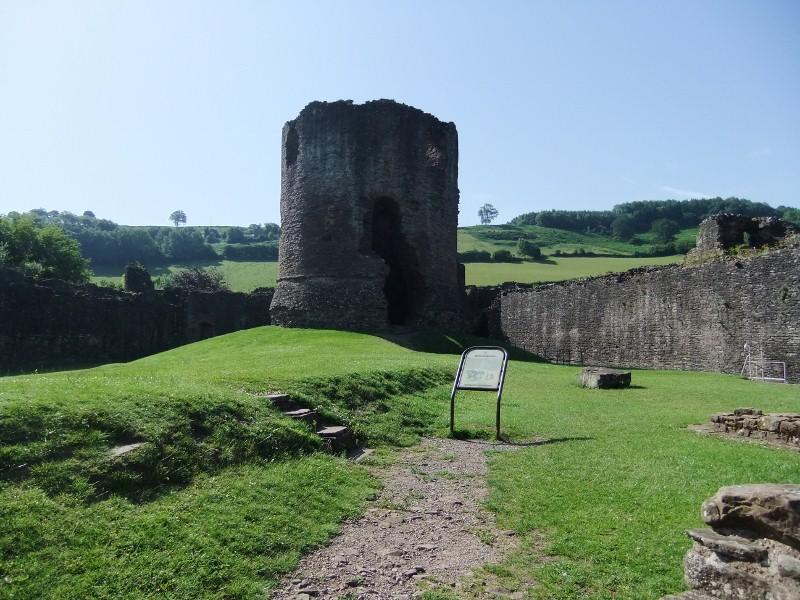 Skenfrith, castle interior
