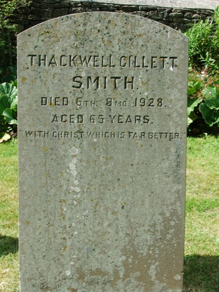 Thackwell Gillett Smith's gravestone